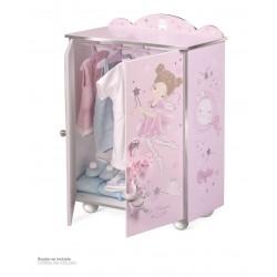 Kleiderschrank aus Holz für Puppen Magic María De Cuevas Toys 55234