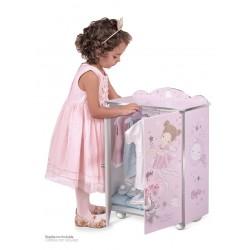 Kleiderschrank aus Holz für Puppen Magic María De Cuevas Toys 55234 | De Cuevas Toys