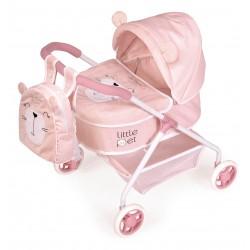Wagen für Puppen Mein Erster Wagen Tiere Little Pet De Cuevas Toys 86039