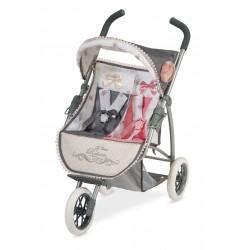 Zwillingsitz-Faltwagen für Puppen Reborn De Cuevas Toys 90331
