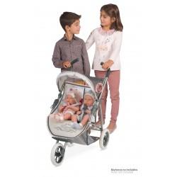 Zwillingsitz-Faltwagen für Puppen Reborn De Cuevas Toys 90331 | De Cuevas Toys