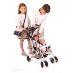 Zwillingsitz-Faltwagen für Puppen Top Collection De Cuevas Toys 90332 | De Cuevas Toys