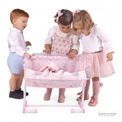 Regulierende Puppenwiege Schlaf mit mir Magic María De Cuevas Toys 51234 | De Cuevas Toys