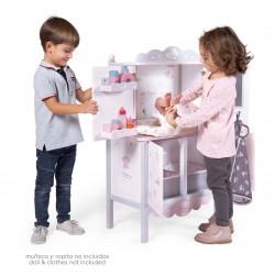 Wechsler-Kleiderschrank aus Holz für Puppen Sky DeCuevas Toys 54835 | DeCuevas Toys