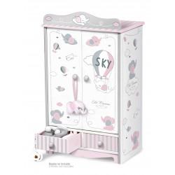 Kleiderschrank aus Holz für Puppen Sky DeCuevas Toys 54035