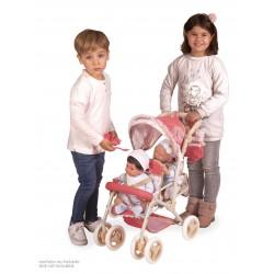 Zwillingsitz-Faltwagen für Puppen Martina DeCuevas Toys 90333 | DeCuevas Toys