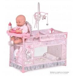 Klein-Umziehpark-Wiege für Puppen Magic María DeCuevas Toys 53134