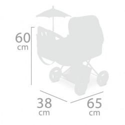 Faltbarer Puppenwagen mit Sonnenschirm Martina DeCuevas Toys 85033 | DeCuevas Toys